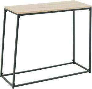 C-Hopetree Shelf Console Table for Narrow Entry Hallway Sofa with Black Frame
