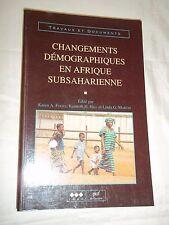 """""""CHANGEMENTS DEMOGRAPHIQUES EN AFRIQUE SUBSAHARIENNE"""" (1996) I.N.E.D. - P.U.F."""