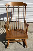 Vintage Maple Nichols & Stone Rocker / Rocking Chair Gardner, MA