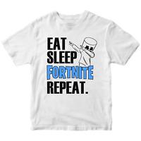 Eat Sleep Fortnite Repeat DJ Marshmello T-shirt Gamer Gaming Birthday Top Gift