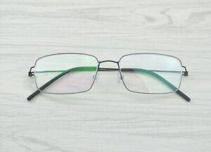 LINDBERG Air Titanium Rim Tim Black Eyeglass Frame