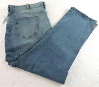 Old Navy Mens 46 x 30 Athletic Built In Flex Blue Denim Straight Leg Jeans