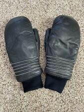 New listing Vintage Grandoe Ski Winter Outdoor Snow Mittens Insulated Blue Leather - Size M