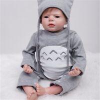 22-Inch Adorable Reborn Boy Alive Doll Look Real Newborn Baby Women Nursery Toys