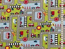 """Jersey """" Spielstraße """" Autos - Straßen - Kinderstoff"""