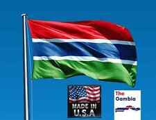 Gambia West Africa 3x5 Heavy Duty Super-Poly Indoor/Outdoor Flag Banner*Usa Made