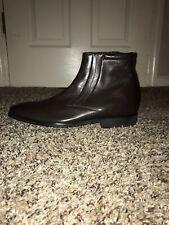 Bruno Magli Men Raspino Dark Brown Italian Calf Leather Boots Shoes 10M MSRP