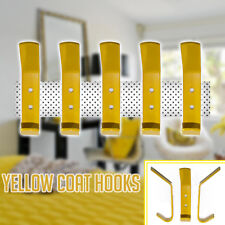 New Yellow Coat Hooks Door Wall Hooks Baby Nursery or Kids Bedroom