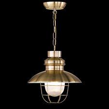 Qualité Premium Suspension Luminaire Nostalgique Nostalgie Bronze/Verre
