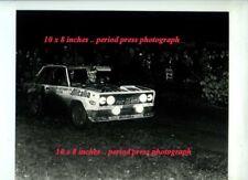 Walter Rohrl FIAT 131 ABARTH Lombard RAC Rally 1978 periodo fotografia 2