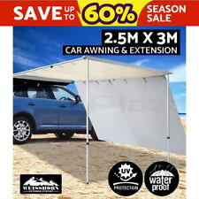 2.5M X 3M Car Side Awning & Extension Roof Rack Tents Shades Camping 4X4 4WD BE