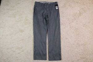 Callaway Golf Pants 34x30 Gray Plaid Check Polyester Mens