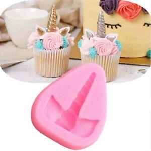 Unicorn Fairy Silicone Mould Cake Fondant Chocolate Baking Decor Sugar Craft 3D