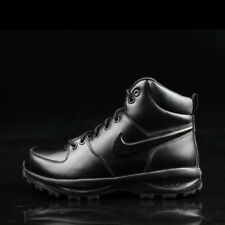 Nike Manoa Leather 454350-003 Triple Black Men's Work Boots ACG Trail NEW! sz 9