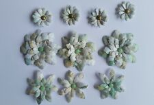 10 x Handmade Die Cut Flowers #4 - Perfect for Scrapbooking,Cards