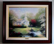 "Thomas Kinkade ""Hometown Chapel"" S/N Framed Canvas W/COA 24 X 30"
