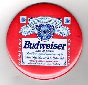 "Budweiser Jumbo Fridge Magnet Beer Mat Bar Ale  3"" 75mm blade Sub pub Bud"