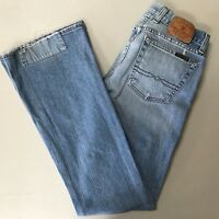 Lucky Brand Womens Jeans Size 2/26 Blue Sweet Dream Patched Flare Button Fly
