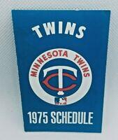 1975 Minnesota Twins Baseball TV Schedule Schmidt Beer #B