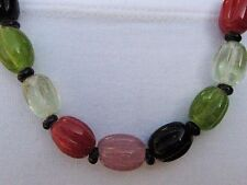 """glass beaded Necklace Womens Gift Fairtrade 28"""" Pink Green orange black clear"""