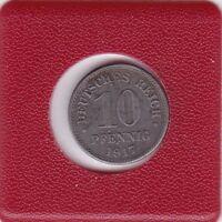 10 Pfennig 1917 F Eisen Variante I- anstatt F Deutsches Reich