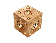 """1"""" 25mm Solid Brass Dapping Doming Block Vice Tool Craft Jewellery Craft M0032"""