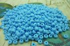 50g Opaque Blue Rocaille Glass Seed Beads 6/0 4mm