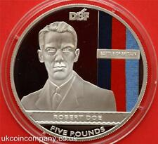 2010 Jersey Silver Proof £5 Five Pounds Coin Rare Battle Of Britain Robert Doe