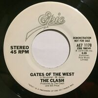 """The Clash Gates of The West / Groovy Times nm original Promo 45rpm 7"""" Epic 1979"""