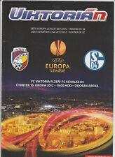 Orig.PRG   Europa League  2011/12   VIKTORIA PLZEN - FC SCHALKE 04  !!  SELTEN