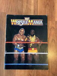 1985 WWF Wrestlemania I ONE Official Program Hulk Hogan Mr T WWE Roddy Piper