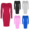 New Fashion Women Winter Knitted Sweater Bodycon O Neck Long Pencil Party Dress
