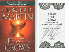 George R.R. Martin SIGNED AUTOGRAPHED A Feast For Crows SC 1st Ed NEW Ice Fire