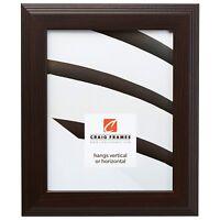 Craig Frames Mossehaus, Contemporary Dark Walnut Brown Picture Frame