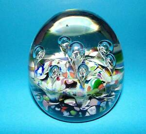 CAITHNESS Glass ' Harlequin Double '  paper weight paperweight   (6945)