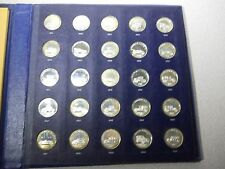 FRANKLIN MINT Sterling Silver Antique Car Coins - Proof Set - Series 2 - 1969