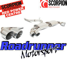 Scorpion Audi TT MK2 TTS Cat Back Exhaust Inox Non Resonated Louder Quad