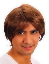Années 80 90 Cosplay Pour Homme Marron Boys Band Pop Star Perruque cheveux courts costume robe fantaisie