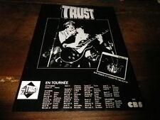 TRUST - Publicité de magazine / Advert !!! TOURNEE !!!