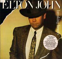 ELTON JOHN breaking hearts HISPD 25 near mint disc uk rocket 1984 LP PS EX/EX