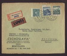 CZECH 1936 EXPRESS REG.ADVERT COVER to MARCHEGG STATION