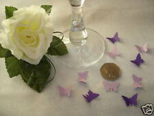 150 LILAC & PURPLE  Butterfly Table Confetti sprinkles wedding cards decoration