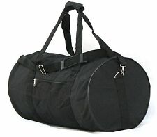 "24""  50LB. CAPACITY ROUND BLACK DUFFLE BAG /GYM BAG / LUGGAGE / FAST FREE SHIP"