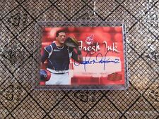 2006 Flair Showcase Victor Martinez Fresh Ink SP Auto # FI-VM