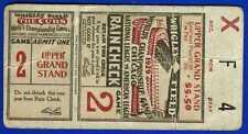1929 World Series baseball ticket stub Philadelphia A's vs Chicago Cubs Gm 2