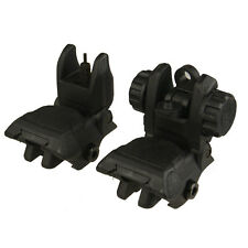 Sniper 2nd Gen 2 BUIS Rear Flip Up Sights + Front Back Up Iron Sight Black Pair