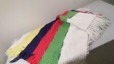 """Vintage Handmade Multi Color Crochet Afghan Throw Blanket 56x41"""""""