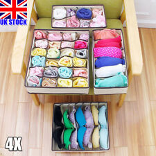 4pack Household Storage Boxes For Sock Bra Divider Drawer Closet Home Organizer