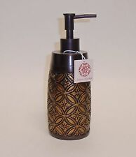 NEW BROWN+BRONZE RESIN,VINTAGE DESIGN SOAP,LOTION,BATHROOM,KITCHEN DISPENSER