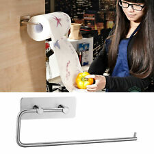 Kitchen Roll Holder Wall Mount Self-Adhesive Tissue Toilet Paper Towel Dispenser